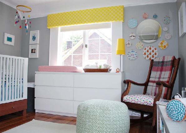 Decoração quarto bebê – Cinza e Amarelo ~ Quarto Rosa Amarelo