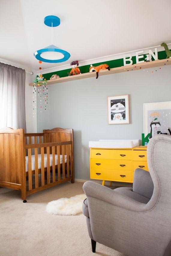 Decoração quarto bebê – Cinza e Amare